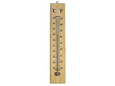 Traditional Wooden Thermometer Wall Mounting C & F Reading Home Garden Winter