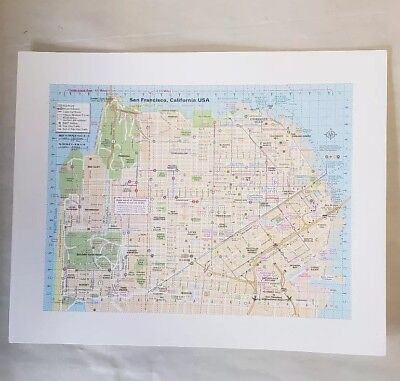 """Sanfrancisco California  """"City Map"""" blotter art print psychedelic perforated"""