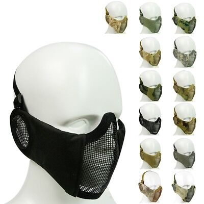 Protective Mask Breathable Airsoft Paintball Steel Mesh Tactical Half Face Mask