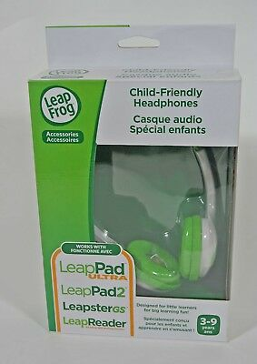 NEW LeapFrog Headphones Green for LeapReader LeapPad 2 Ultra Leapster Etc Child
