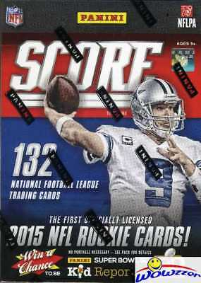 2015 Score Football HUGE Factory Sealed Blaster Box-11 Packs/132 Cards+RELIC !!