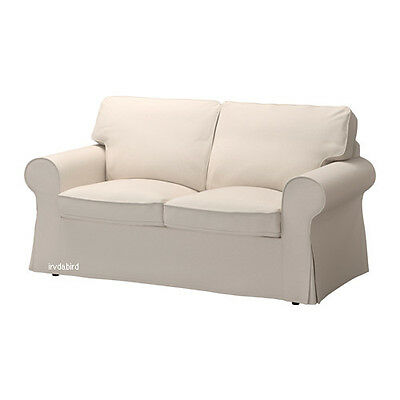 New Ikea Cover for Ektorp 2-seat Loveseat Couch, Lofallet Beige Complete Set