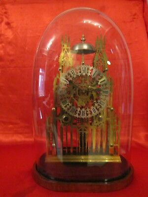 Victorian twin chain fusee cathedral skeleton clock