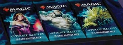 MTG MAGIC ULTIMATE MASTERS 3x BOOSTER PACK DRAFT SET 12/7 SHIP * NO BOX TOPPERS
