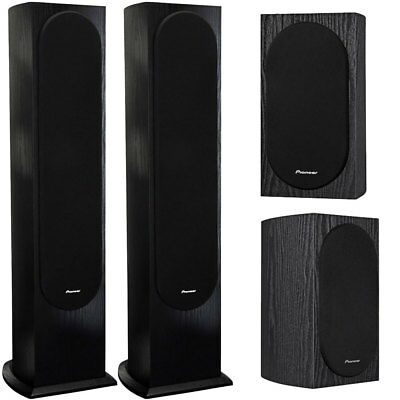 Pioneer A Jones Designed 4 2 Way Bookshelf Speakers Pair