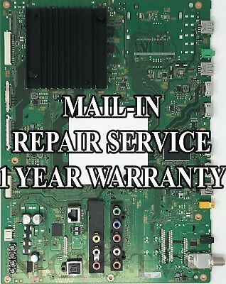 Mail-in Repair Service For Sony XBR-65X810C Main Board 1 YEAR WARRANTY