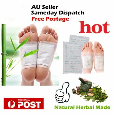 10 x Detox Kinoki Foot Patch Pad Natural plant Herbal Toxin Removal Weight Lo2N