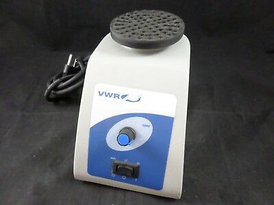VWR Scientific Analog Vortex Mixer Benchtop Vortexer Mini w/ Platform Head 120v