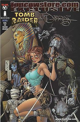Tomb Raider-The Darkness V1 #1 2001 Top Cow Store Gold Foil Exclusive Silvestri
