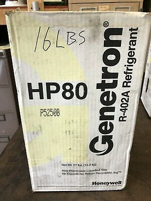GENETRON Refrigerant HP-80 - R-402A 16 Lbs. Tank & Contents W/ Box - HONEYWELL