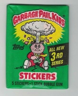 Garbage Pail Kids-1986 Series 3 Single Pack-Unopened Wax Pack!