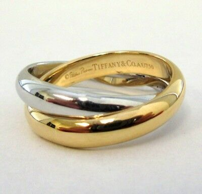 df2d22853 TIFFANY & CO. 18K Gold Paloma Picasso Calife Double Band Ring 7 ...