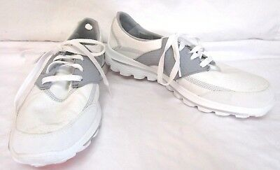 cc447c88ae93 Skechers Womens White Gray Go Walk 2 Go Golf Sneakers Shoes Sz 9.5