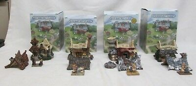 Boyds Bearly Built Villages Lot of 4 Collectibles Excellent Condition With Box