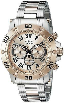 Invicta 19702 Specialty Men's 48mm Chronograph Tow-Tone Rose Gold Dial Watch