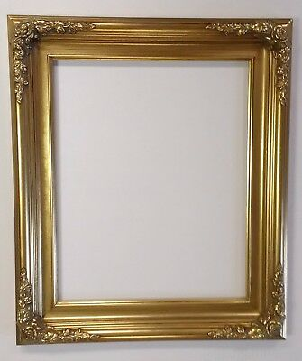 Picture Frame 16x20 Vintage Antique Style Baroque Classic Old Gold Ornate B6G