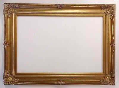 Picture Frame 24x36 Vintage Antique Style Baroque Bronze Old Gold Ornate 801G