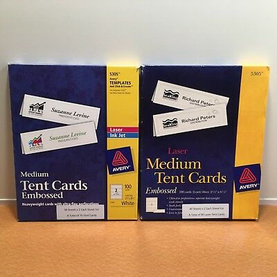 picture about Printable Tent Cards named AVERY 5305 PRINTABLE Tent Playing cards, Laser Inkjet Printers: 78 Sheets / 156 Labels