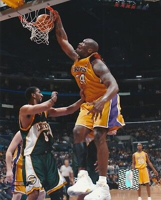 Shaquille O'neal #34 La Lakers 8X10 Licensed Color Nba Photo File Dunk