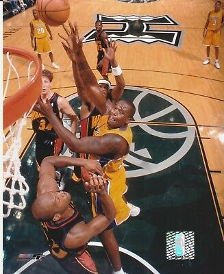 Shaquille O'neal #34 La Lakers 8X10 Licensed Color Nba Photo File Hook Shot