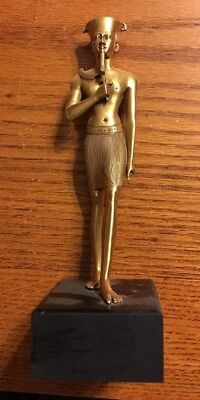 Ancient Egyptian Metropolitan Museum Of Art Statue Of An Amen-Ra Deity Repro.
