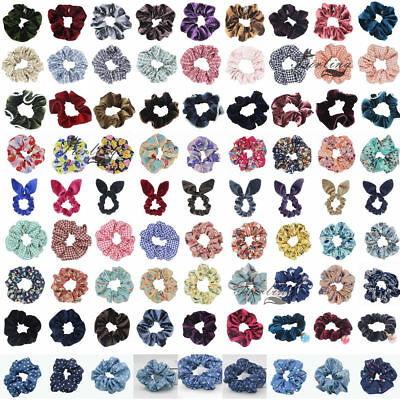 Women Hair Scrunchies Bun Ring Elastic Fashion Bobble Sports Dance Scrunchie