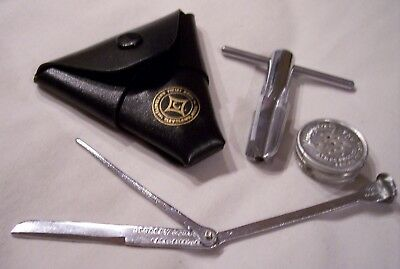 Vintage Tobacco Pipe Cleaning Tools plus Humidor