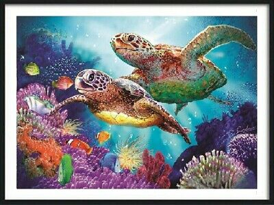 AU Sea Turtle Full Drill DIY 5D Diamond Painting Embroidery Cross Stitch Kit HN
