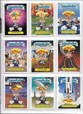 Garbage Pail Kids BNS 1 Complete Adam Bomb Through History 10 Card White set