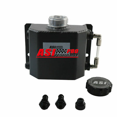 Universal 1L Coolant Radiator Overflow Recovery Water Tank Aluminum Bottle PRO