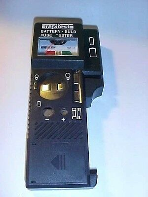 Rapitest Battery, Bulb & Fuse Tester ABG31 - Exc Working Cond w/ NEW 9V Battery