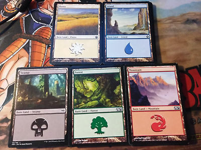 MTG Magic The Gathering 100 Basic Lands Forest Mountain Plains Island Swamp 20x