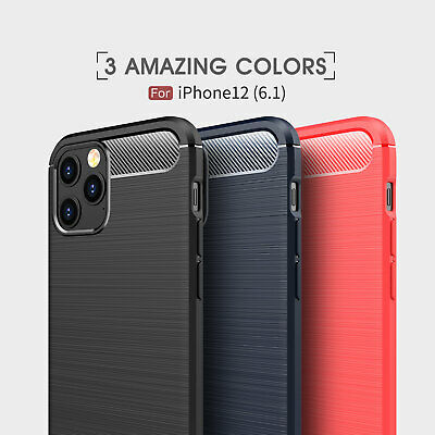 For iPhone XS / XR / XS Max Shockproof Armor Carbon Fiber Hybrid Brush Case