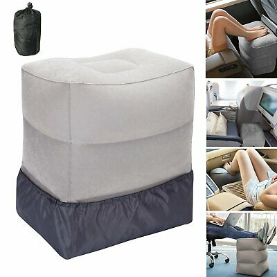 Airplane Inflatable Travel Footrest with Adjustable Height-Leg Rest Pillows LDS