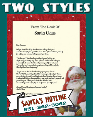 Personalized Letter from Santa ~ Stamped North Pole postmark ~  FREE SHIPPING!
