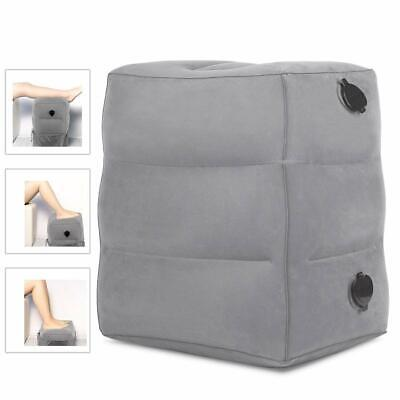 AirPlane Soft Inflatable Foot Rest Footrest Pillow Recliner Relax Cushion Travel