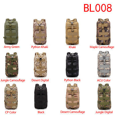 Military Tactical Backpack 30L 3P Outdoor Rucksacks Camping Hiking Trekking Bag