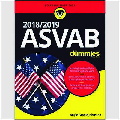 ASVAB for Dummies 2018 / 2019 Paperback by Angie Papple Johnston Page