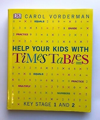 Help Your Kids With Times Tables Book Carol Vorderman Kids Ages 5+ Year New Gift