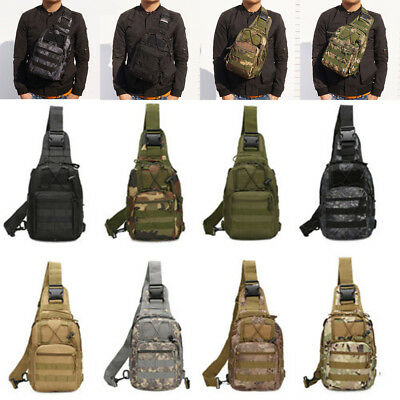 One Shoulder Outdoor Military Rucksacks Tactical Hiking Trekking Shoulder Bag
