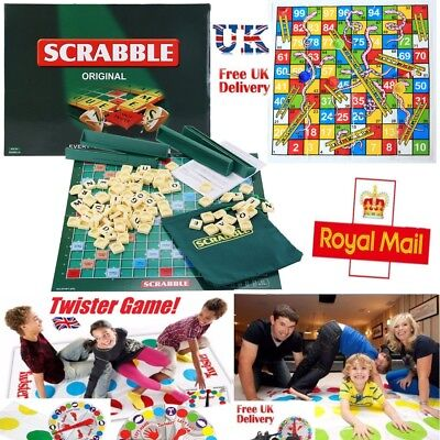 Scrabble Board Game Funny Twister Family Kids Toys Snakes Ladders Play Mat Gift