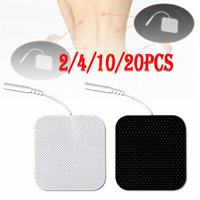 2/4/10/20 Square Tens Electrode Pads Reusable For Tens Machines