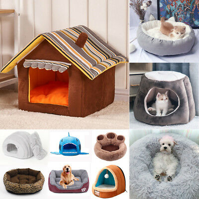 Extra Large Pet Dog Puppy Fleece Igloo Bed Warm Sleep House/Tunnel/Snug/Pod/Cave