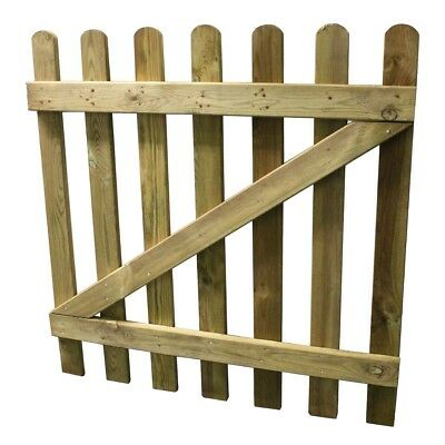 Picket Fence Gates 90cm x 90cm Round Top Decorative Treated Wood Garden Gate