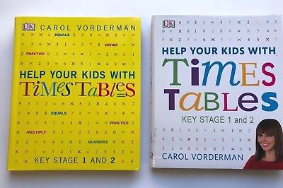 KS 1 & 2 Carol Vorderman Help your Kids With Times Tables Set of 2 Books Ages 5+