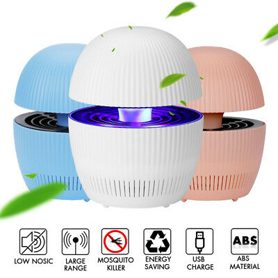 Electric Mosquito UV Light Killer Insect Pest Bug Zapper Trap Lamp USB Charging