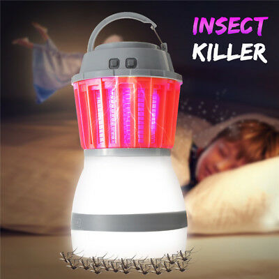 UV Lampe Piège Moustiques Répulsif Anti Insectes Mouches Camping USB Charge IP67