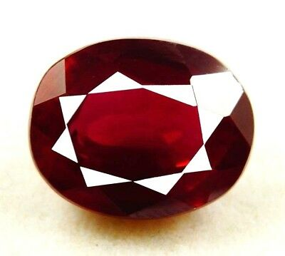 New year Offer  GGL Certified 13.85 Ct Natural Oval Cut Red Mozambique Ruby Gem