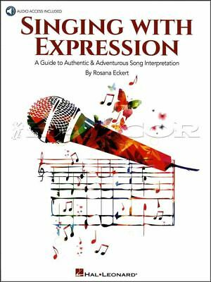 Singing with Expression Sheet Music Book/Audio Learn How To Sing Vocal Method