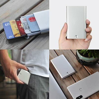 Men Metal Card Holder Purse Bank Credit Card Wallets Automatic Pop Up for Xiaomi